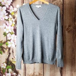 Christopher Fischer cashmere V neck sweater size M